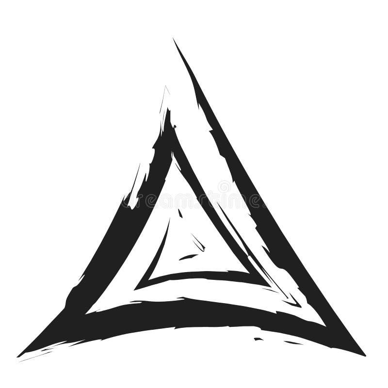 Svart linje symboltriangel arkivbild