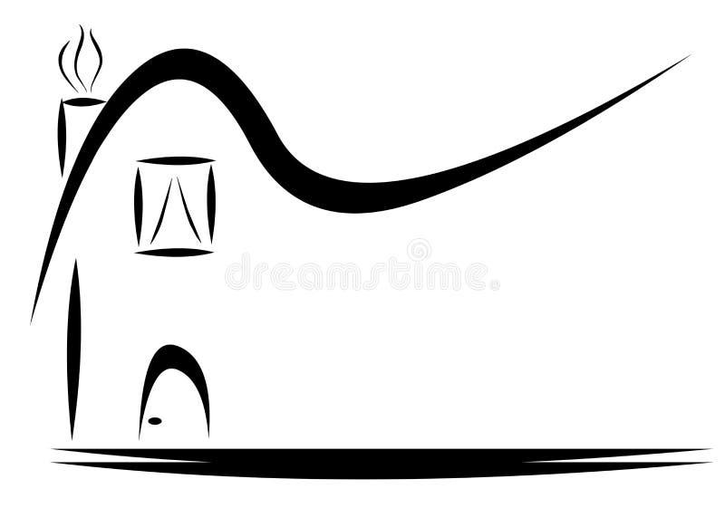 Svart logo för husteckengods fotografering för bildbyråer