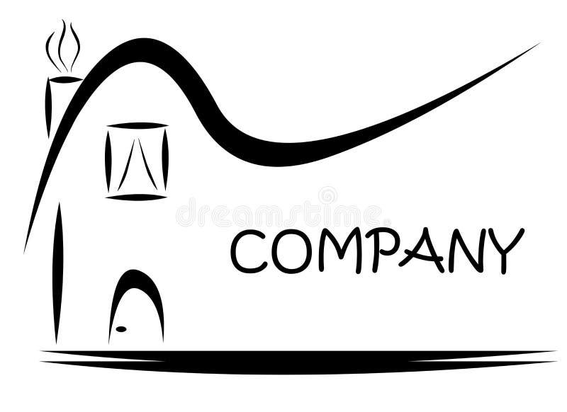 Svart logo för husteckengods arkivfoto