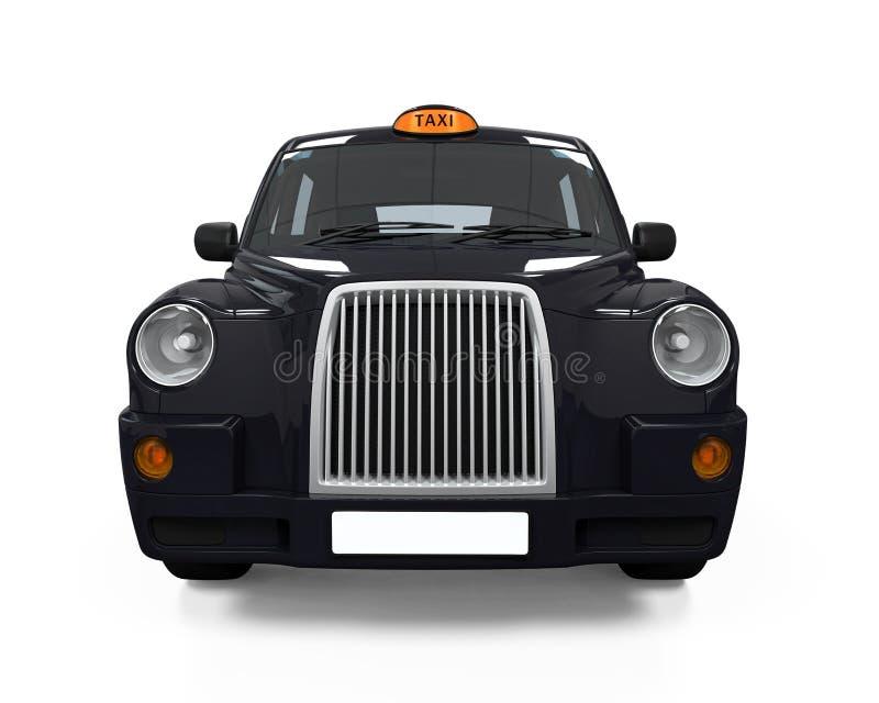 Svart London taxi stock illustrationer