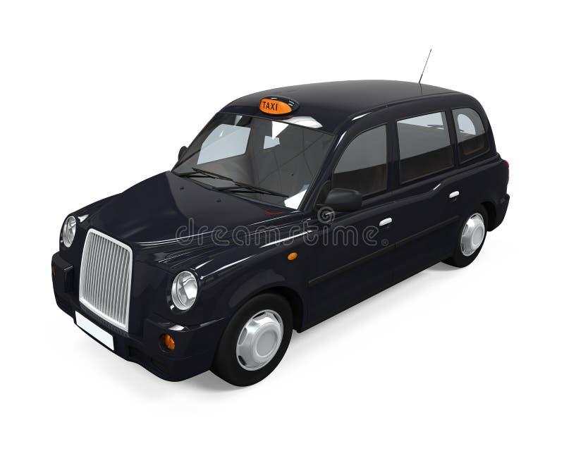 Svart London taxi vektor illustrationer