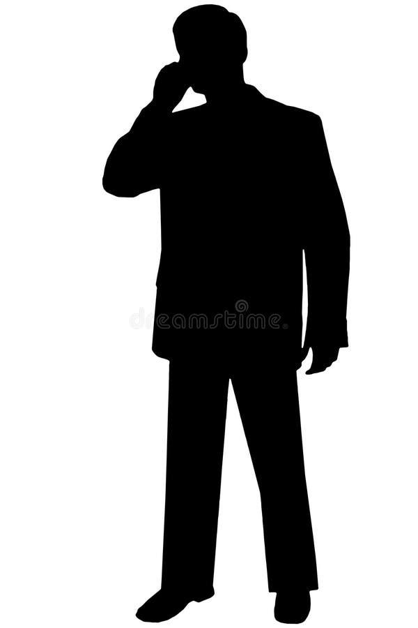 svart mansilhouettewhite arkivfoto