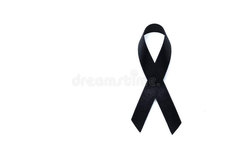 Svart medvetenhetband Melanom- och hudcancerförhindrande Hea fotografering för bildbyråer