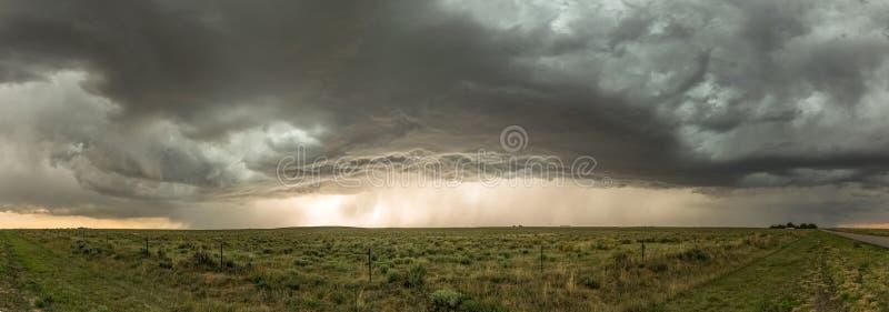 Svart Mesa Thunderstorm på gränsen av Oklahoma och nytt - Mexiko royaltyfria bilder