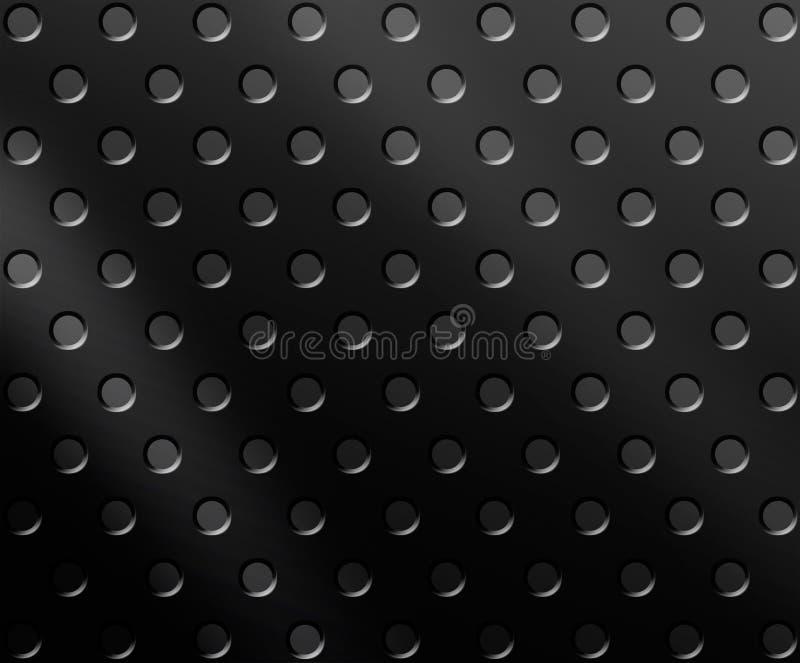 svart metall för bakgrund vektor illustrationer
