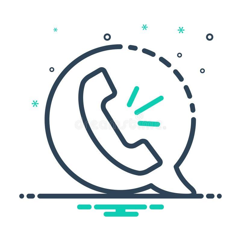 Svart mixikon för röstsamtal, telefon och kontakt royaltyfri illustrationer