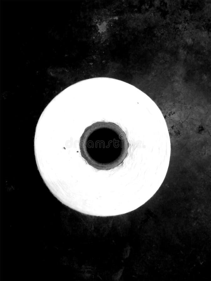 svart modellwhite vektor illustrationer