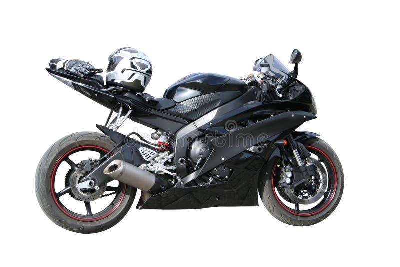 svart motorcykel royaltyfria bilder