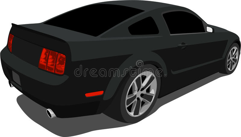 svart muskelmustang för bil 2008 arkivbilder