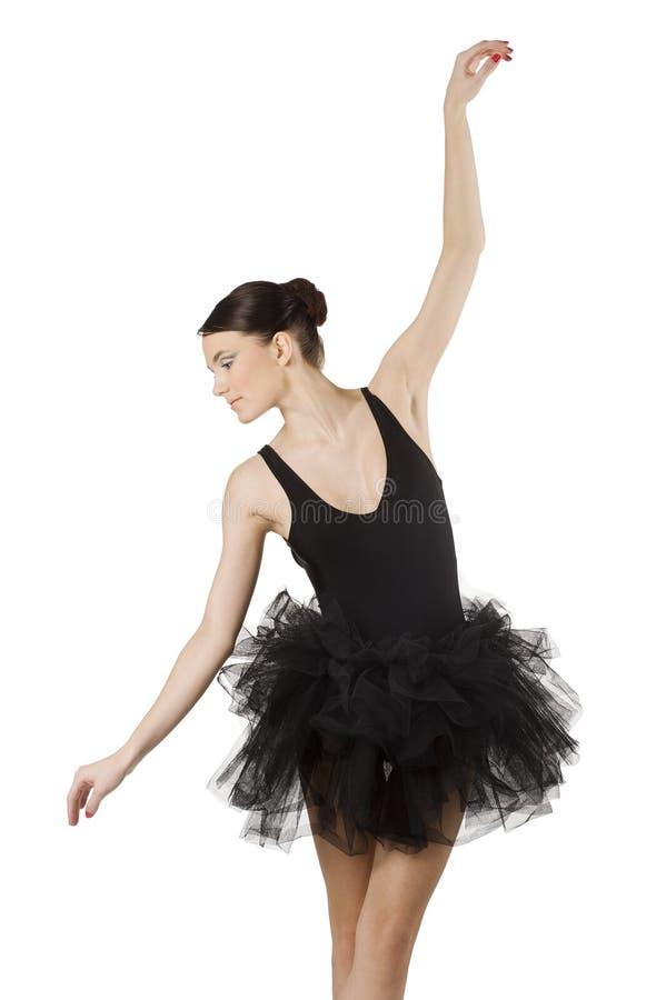 svart nätt för ballerina arkivbilder