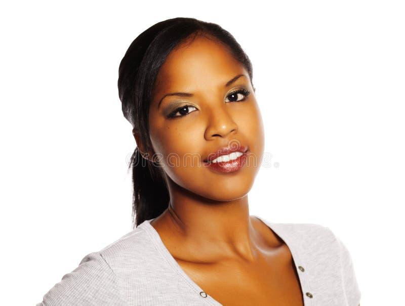 svart nätt kvinna royaltyfri foto