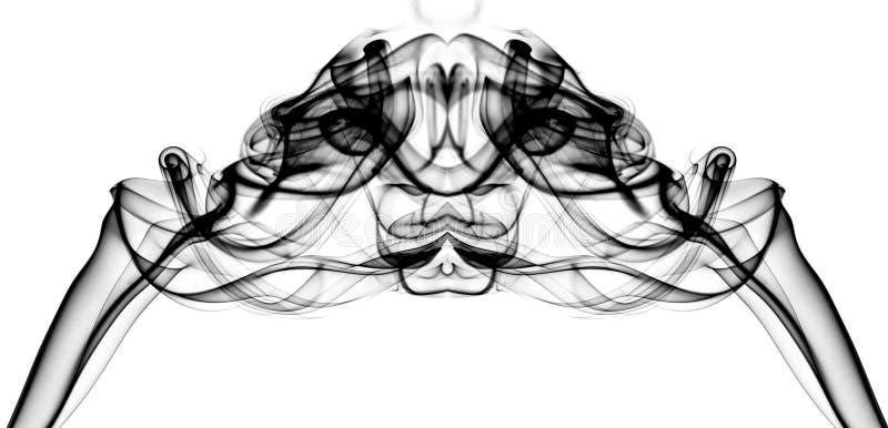 Svart och grå färger röker i formen av ett diagram arkivfoto