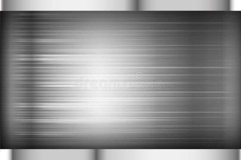 Svart och grå för bakgrundstexturvektor illustration för mörk krom stock illustrationer