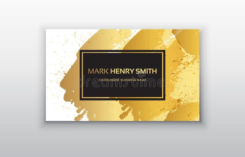 Svart och guld- designmallar för broschyrer, reklamblad, mobila teknologier och online-tjänst royaltyfri illustrationer