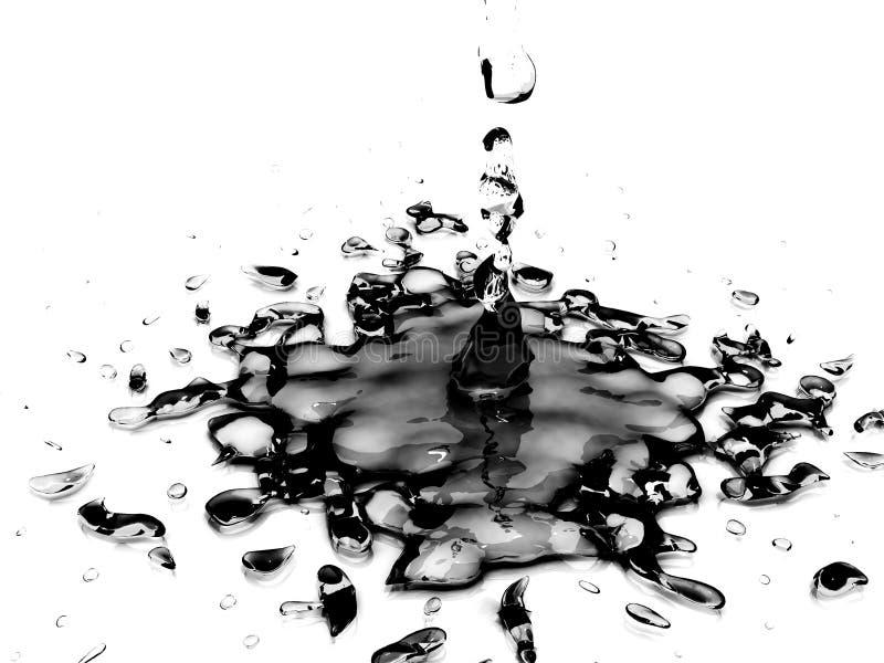 svart olja arkivfoton