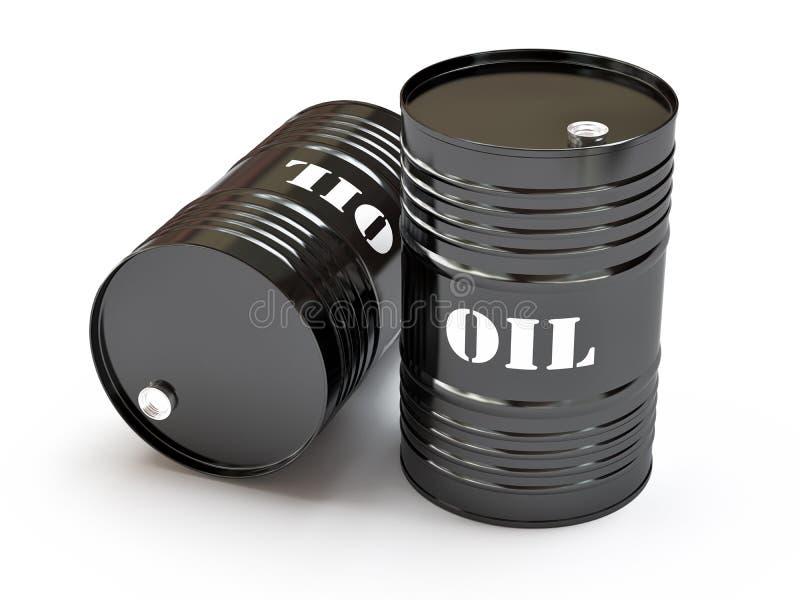 svart olja för trummor royaltyfri illustrationer
