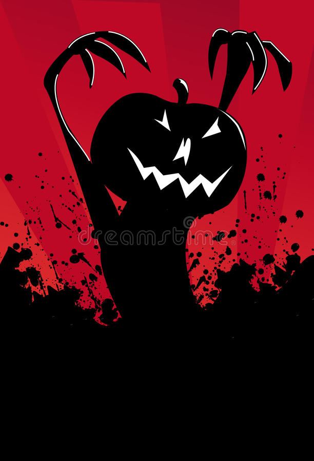 svart ond pumpa vektor illustrationer