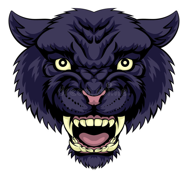 svart panter royaltyfri illustrationer