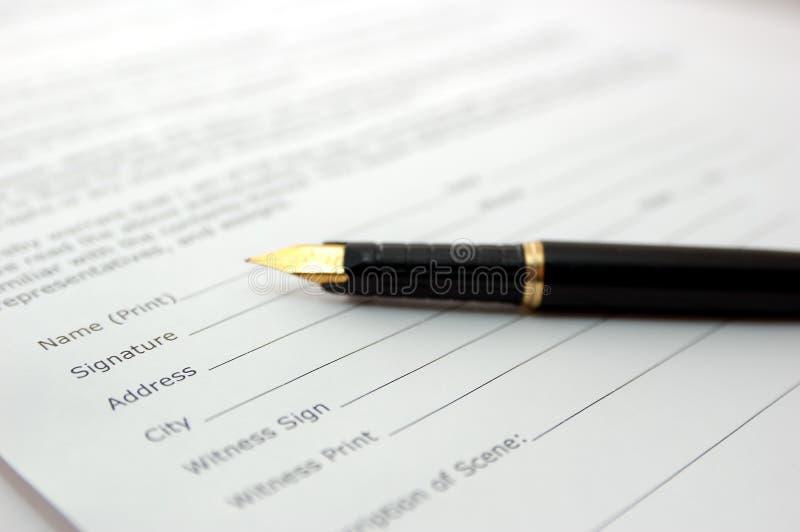 svart penna arkivbild