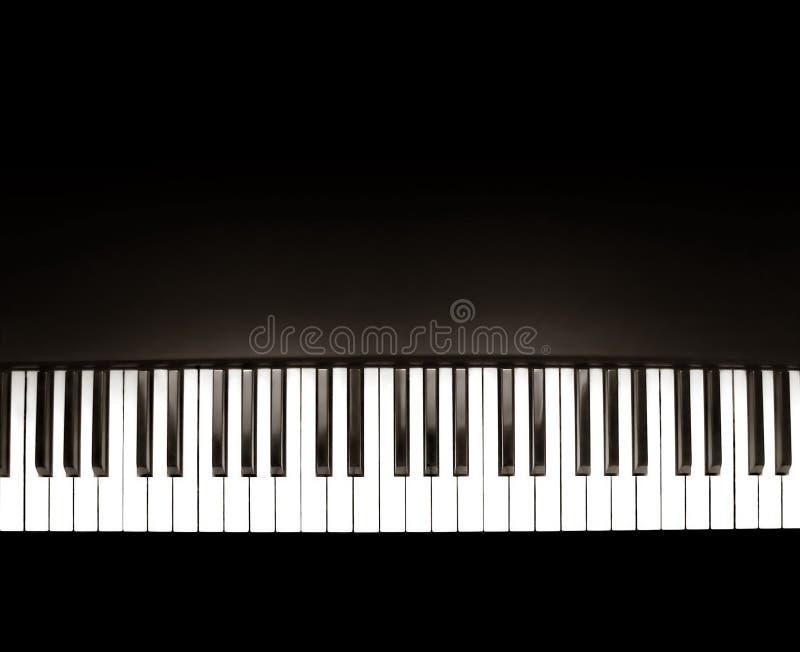 svart piano royaltyfri bild