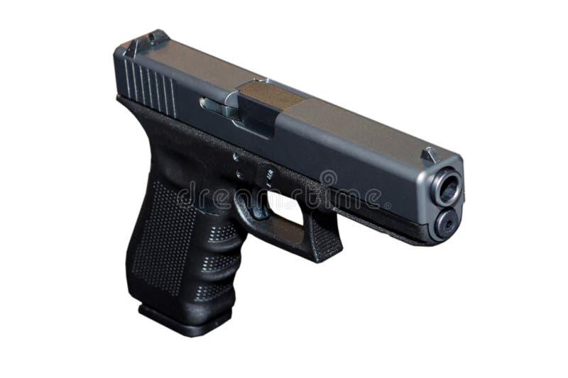 Svart pistolvapen för metall 9mm arkivfoto