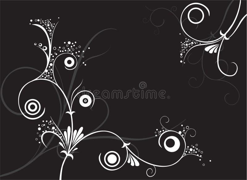 svart prydnad royaltyfri illustrationer