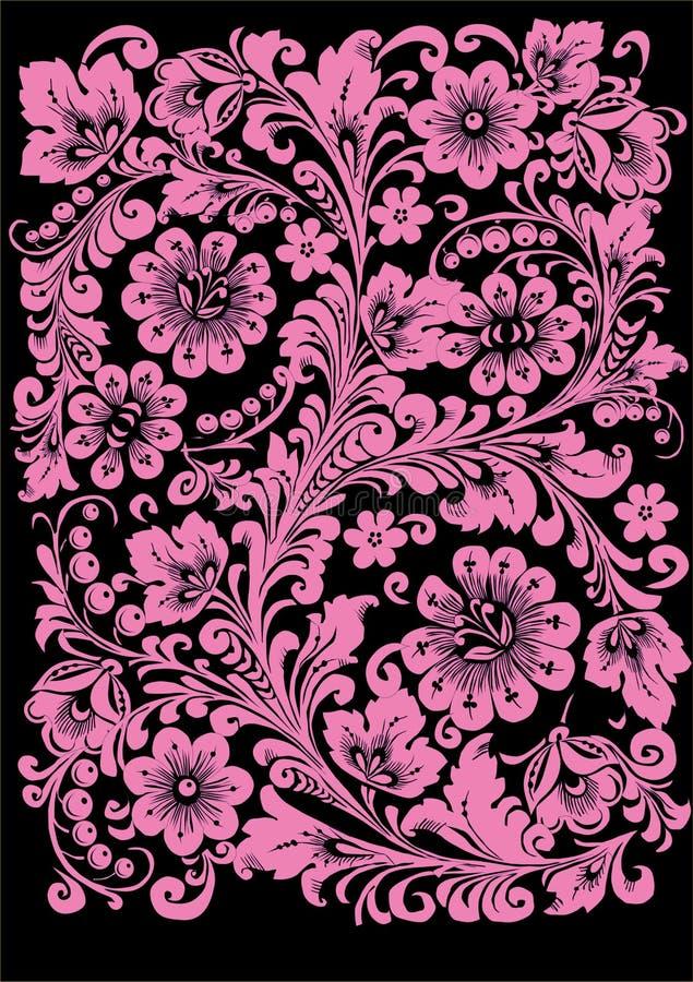svart prydnadpink stock illustrationer