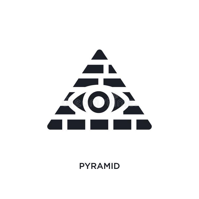 svart pyramid isolerad vektorsymbol enkel beståndsdelillustration från symboler för Förenta staterna begreppsvektor redigerbar lo stock illustrationer