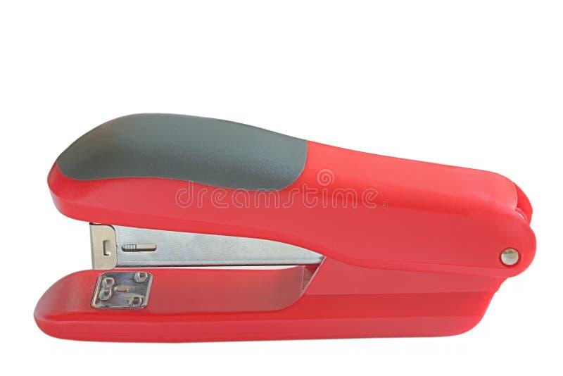 svart röd häftapparat royaltyfri bild
