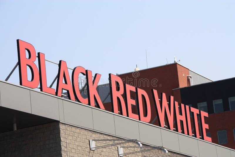 svart röd white arkivfoton