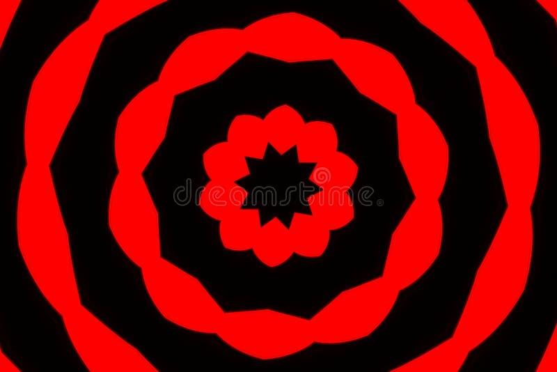 svart rött mål royaltyfri fotografi