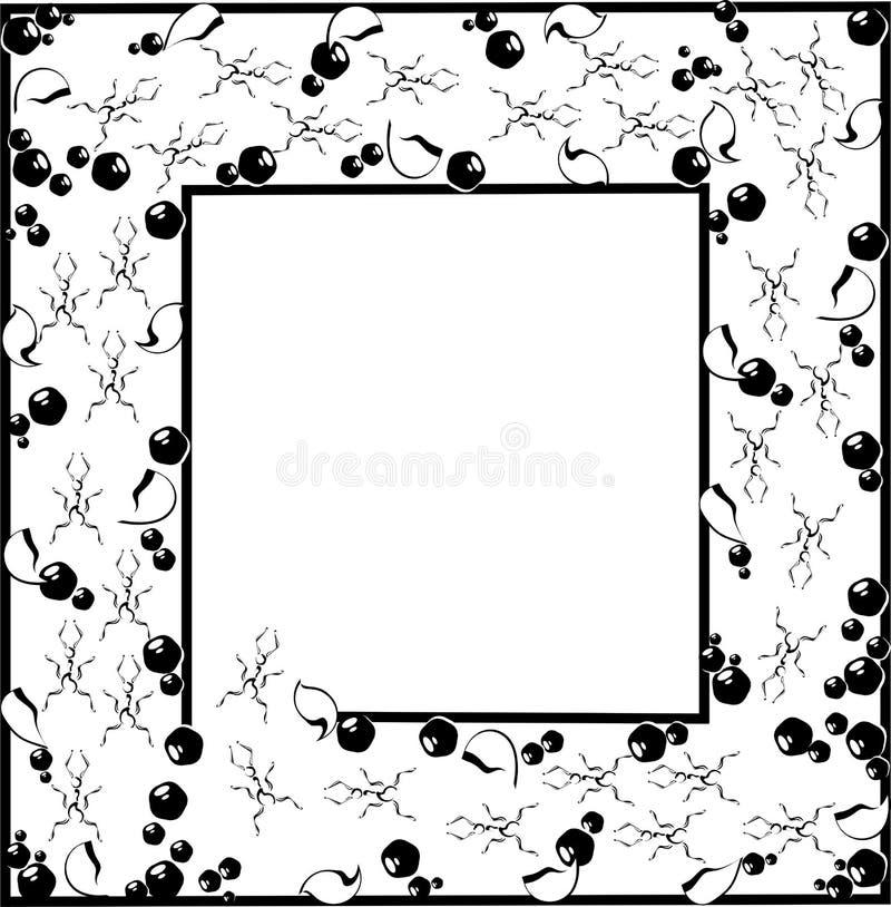 svart ram för myror royaltyfri illustrationer