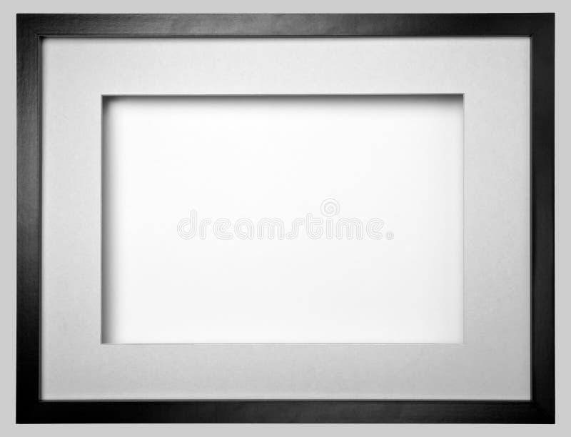 svart ramfoto arkivbild