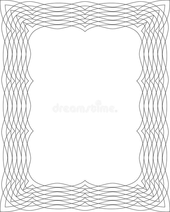 svart ramwhite royaltyfri illustrationer