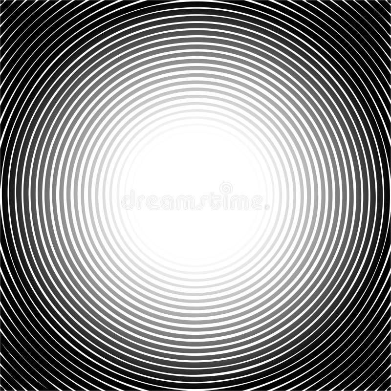Svart rastrerad cirkelmodell royaltyfri illustrationer