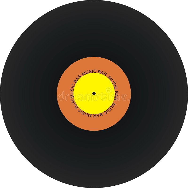 svart registrerad retro vinyl royaltyfri foto