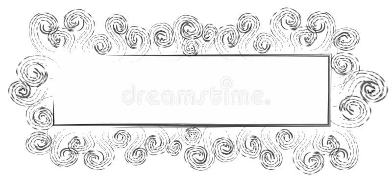 svart rengöringsduk för logosidaswirls vektor illustrationer