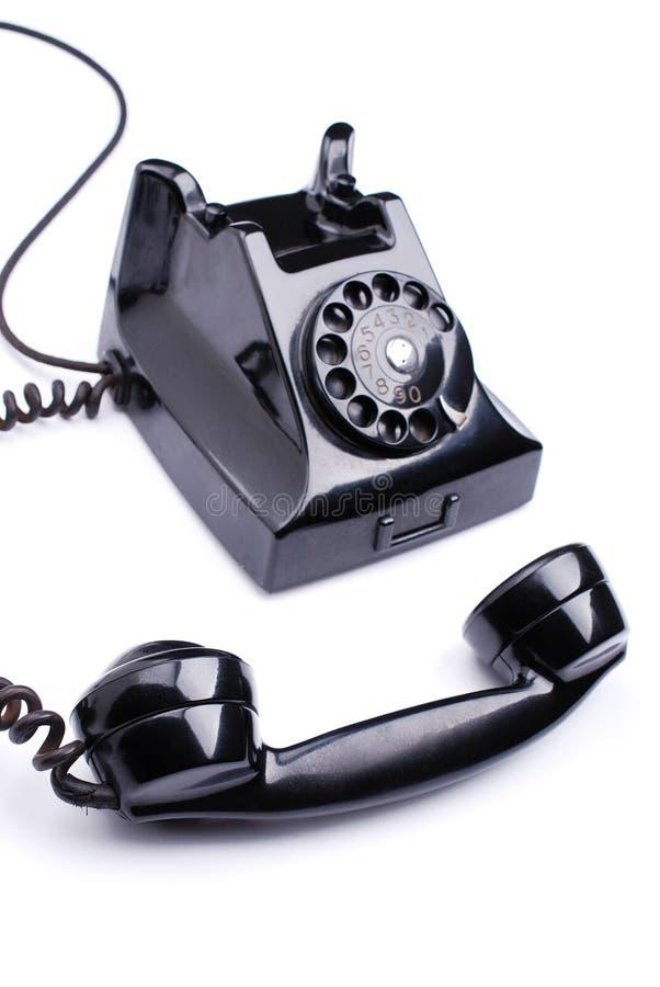 Download Svart retro telefon fotografering för bildbyråer. Bild av ringning - 37349543