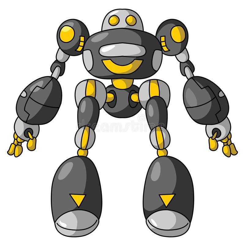 svart robot vektor illustrationer