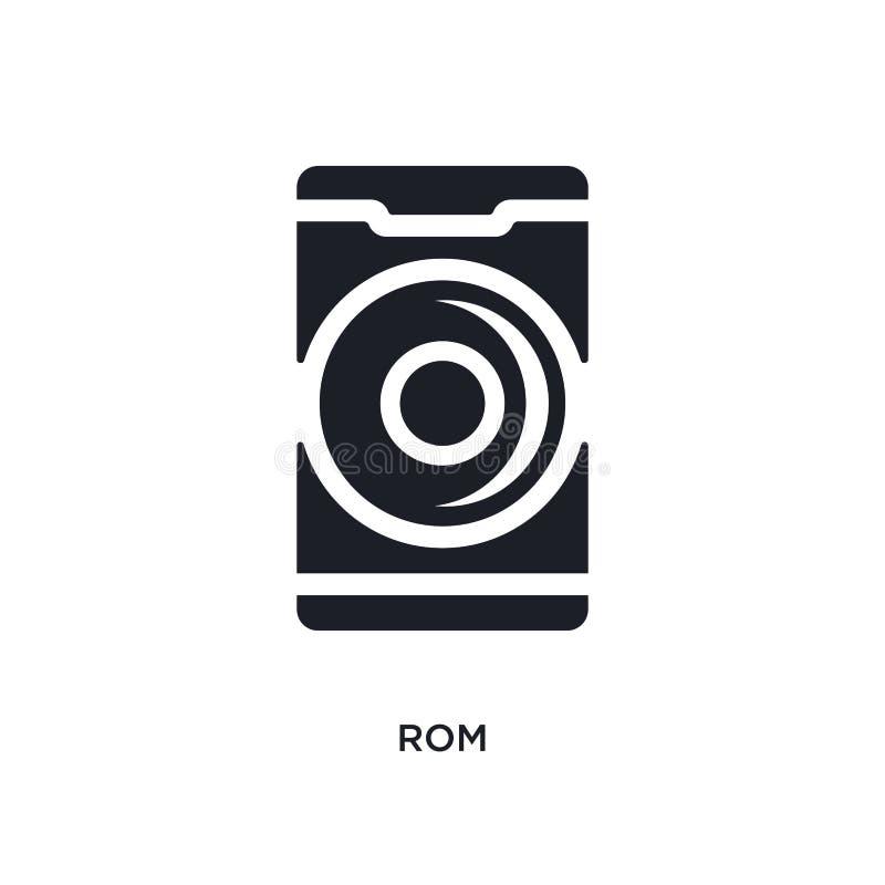 svart ROM-minne isolerade vektorsymbolen enkel beståndsdelillustration från mobila symboler för appbegreppsvektor för logosymbol  royaltyfri illustrationer