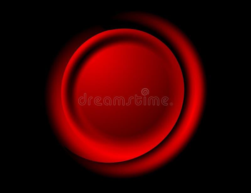 svart rund glödande logo royaltyfri illustrationer