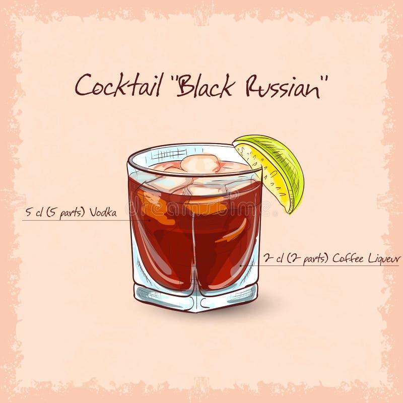 svart ryss royaltyfri illustrationer