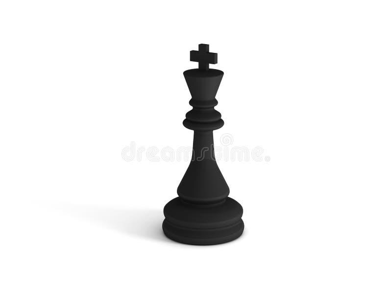 Svart schackkonung stock illustrationer