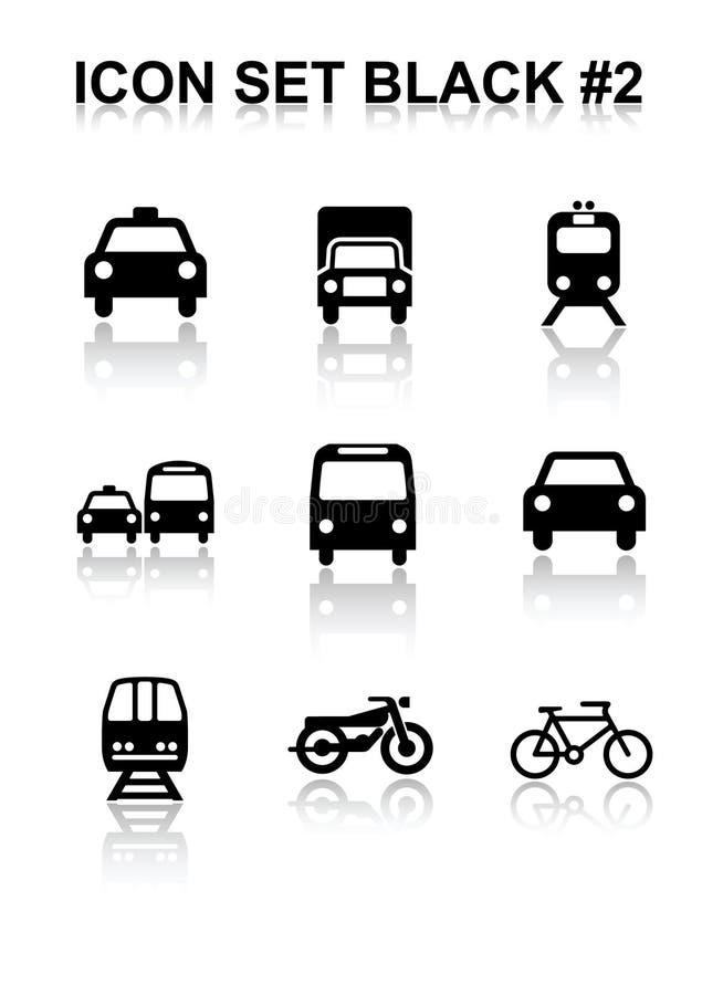 svart set för symbol 2 stock illustrationer