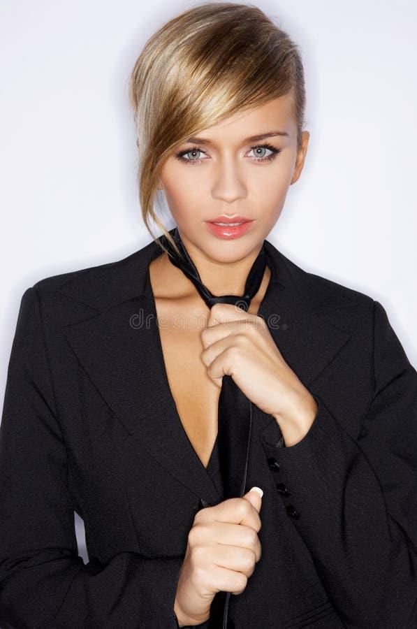 svart sexig tie arkivfoto
