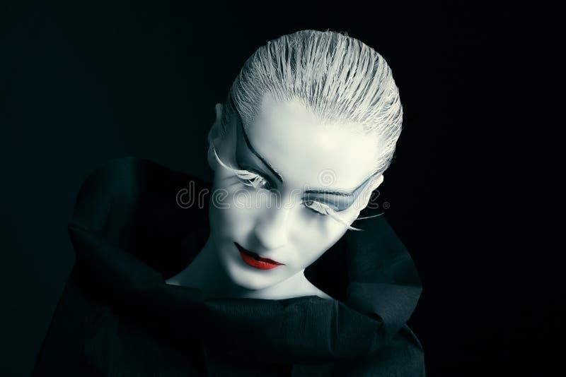 svart showwhite arkivfoton