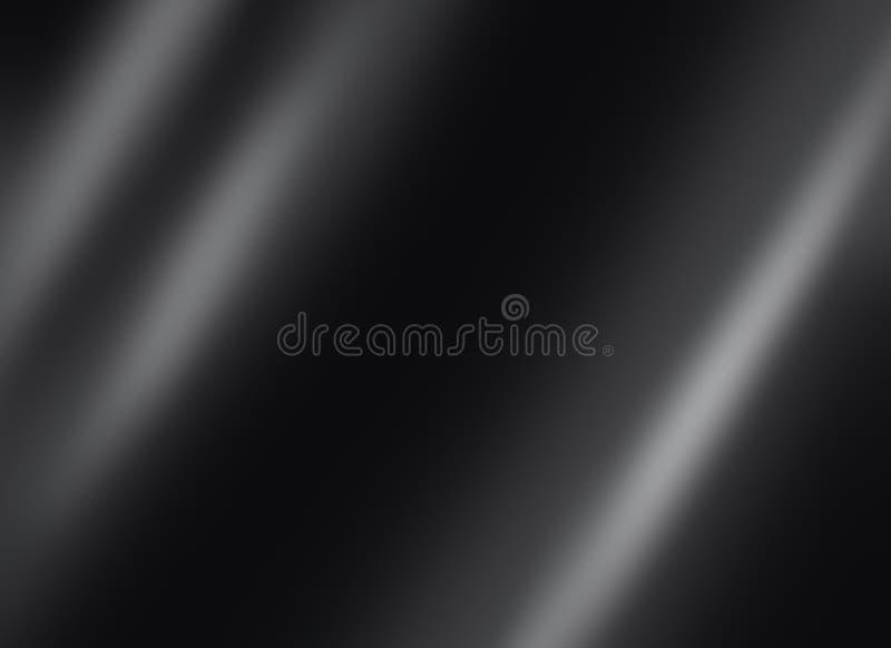 Svart skinande bakgrund för mörker för metallplatta royaltyfri illustrationer
