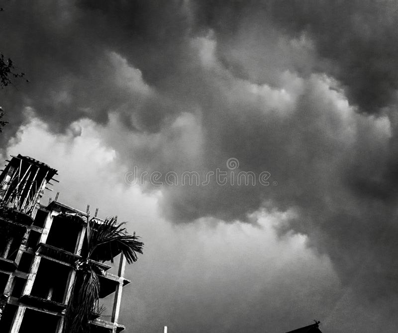 svart sky royaltyfria foton