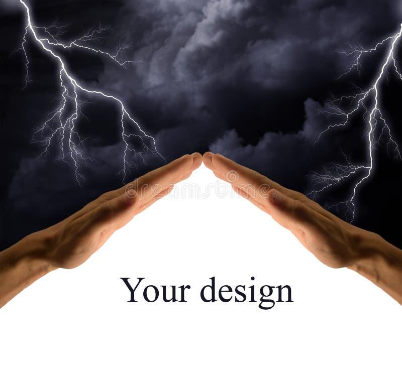 svart sky stock illustrationer