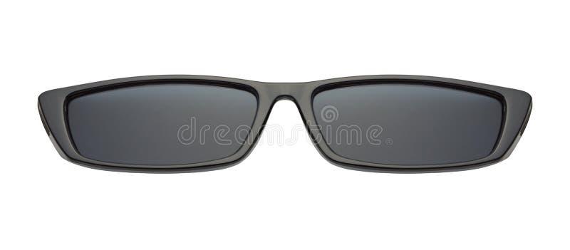 Svart slank solglasögon Front View arkivfoton